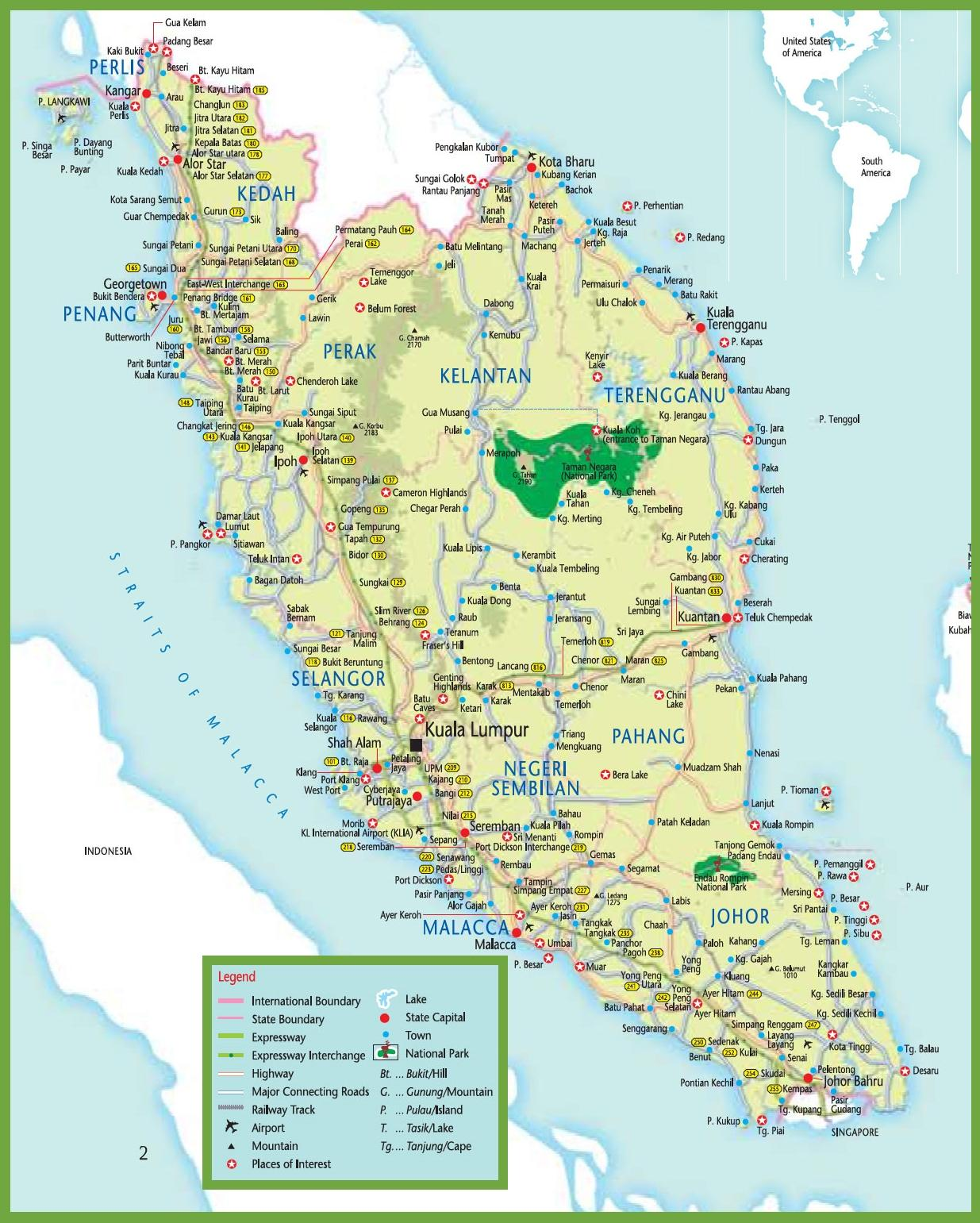 Mrt Map Malaysia Mrt Karte In Malaysia Sud Ost Asien Asien