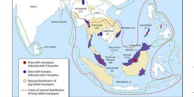 Malaria Karte Thailand.Karte Von Malaysia Maps Malaysia Sud Ost Asien Asien